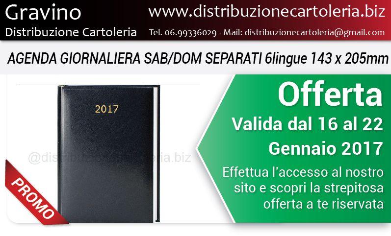 OFFERTA VALIDA DAL 16 AL 22 GENNAIO Consegna in tutta Italia Per vedere i prezzi clicca qui: http://shop.distribuzionecartoleria.biz/specials.html