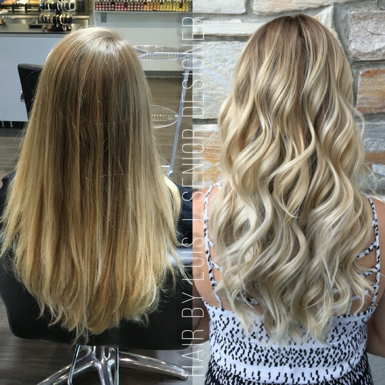 Dirty Blonde Base and Frosty Blonde Balayage by Luis ...