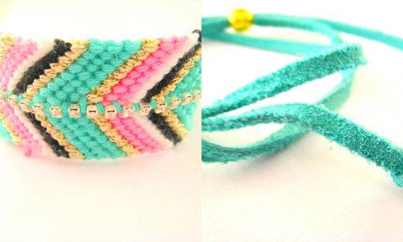 Rhinestone Multicolor Friendship Bracelet. XXL