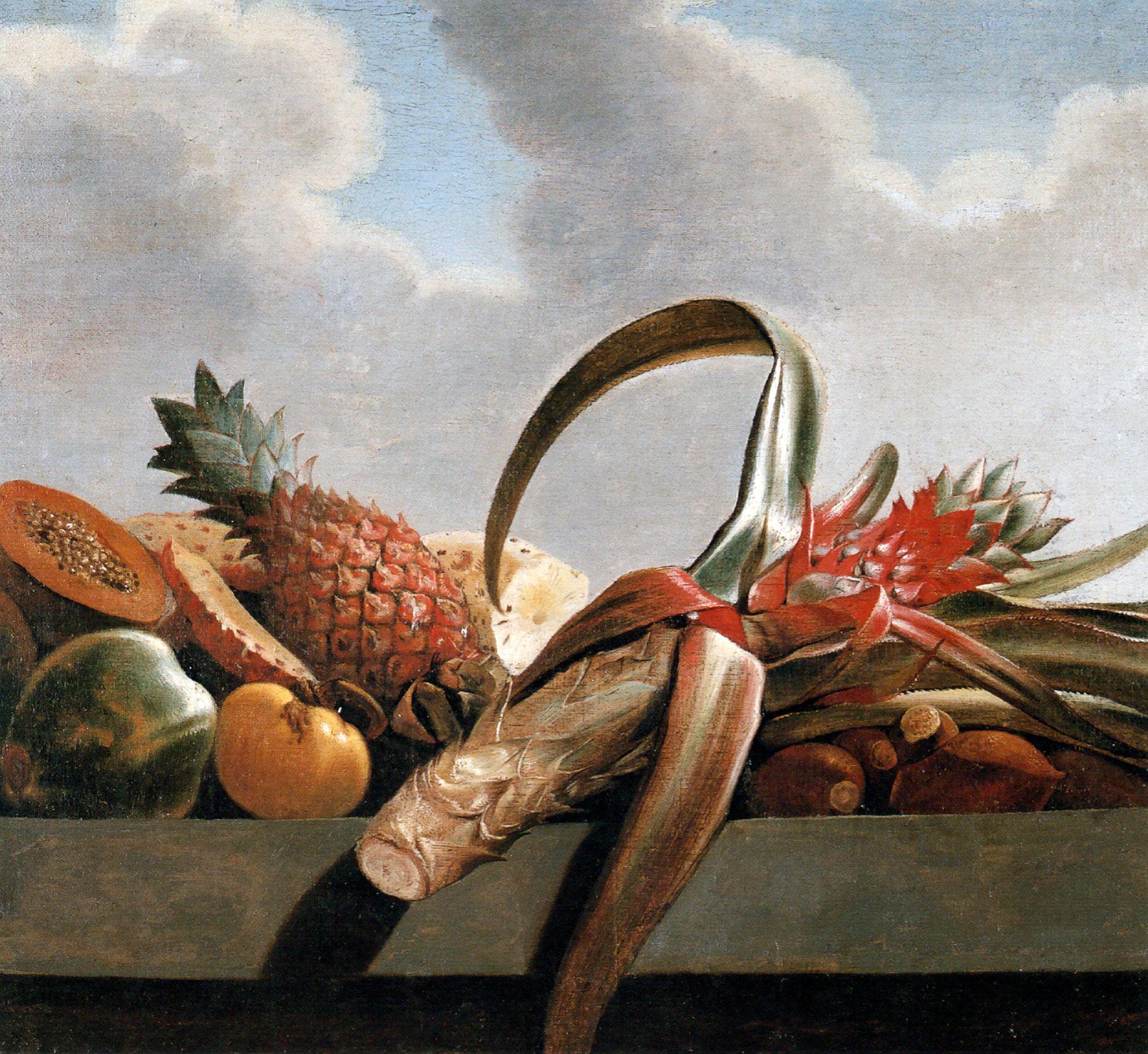 Natureza Morta Abacaxi Mamao E Outras Frutas Albert Eckhout