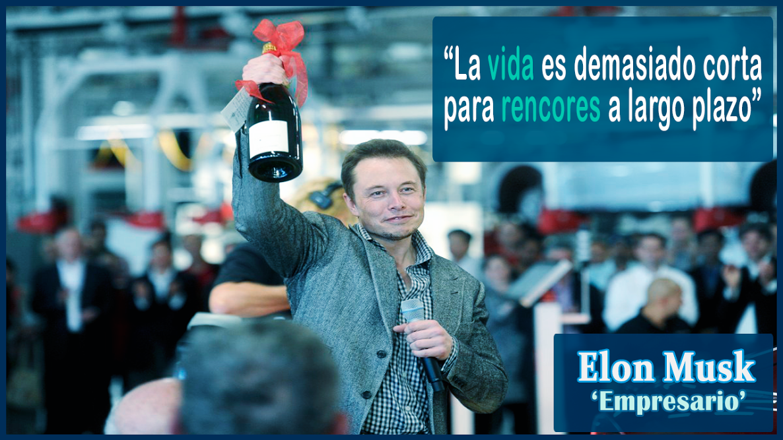 """""""La vida es demasiado corta para rencores a largo plazo""""   #ElonMusk  #FrasesUdever"""
