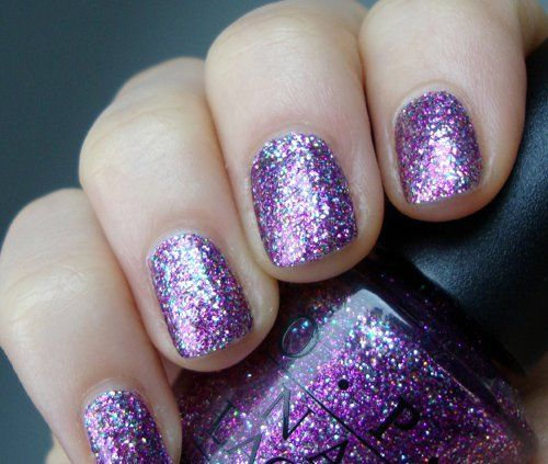 Sparkly Purple Nail Polish