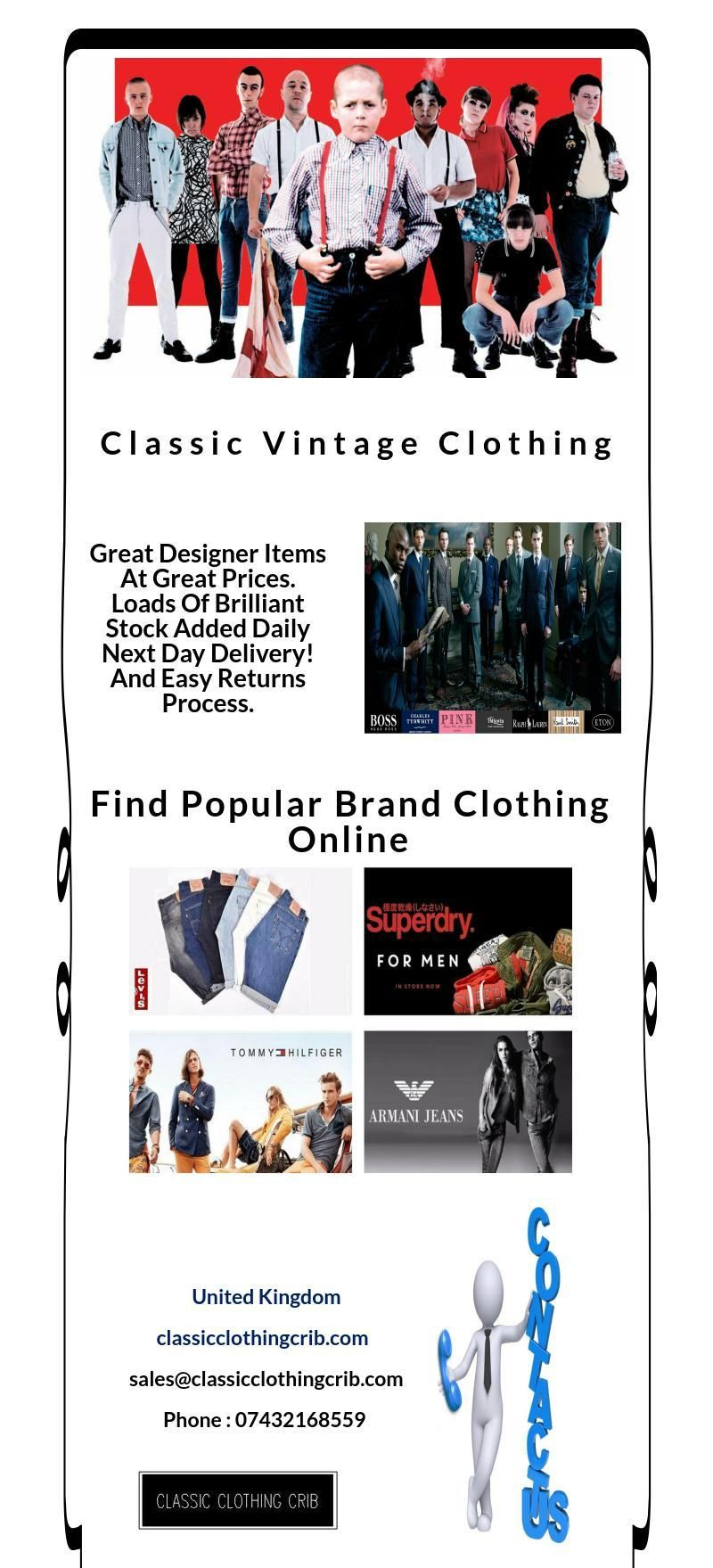 Discover the very best classic vintage clothing online choose from