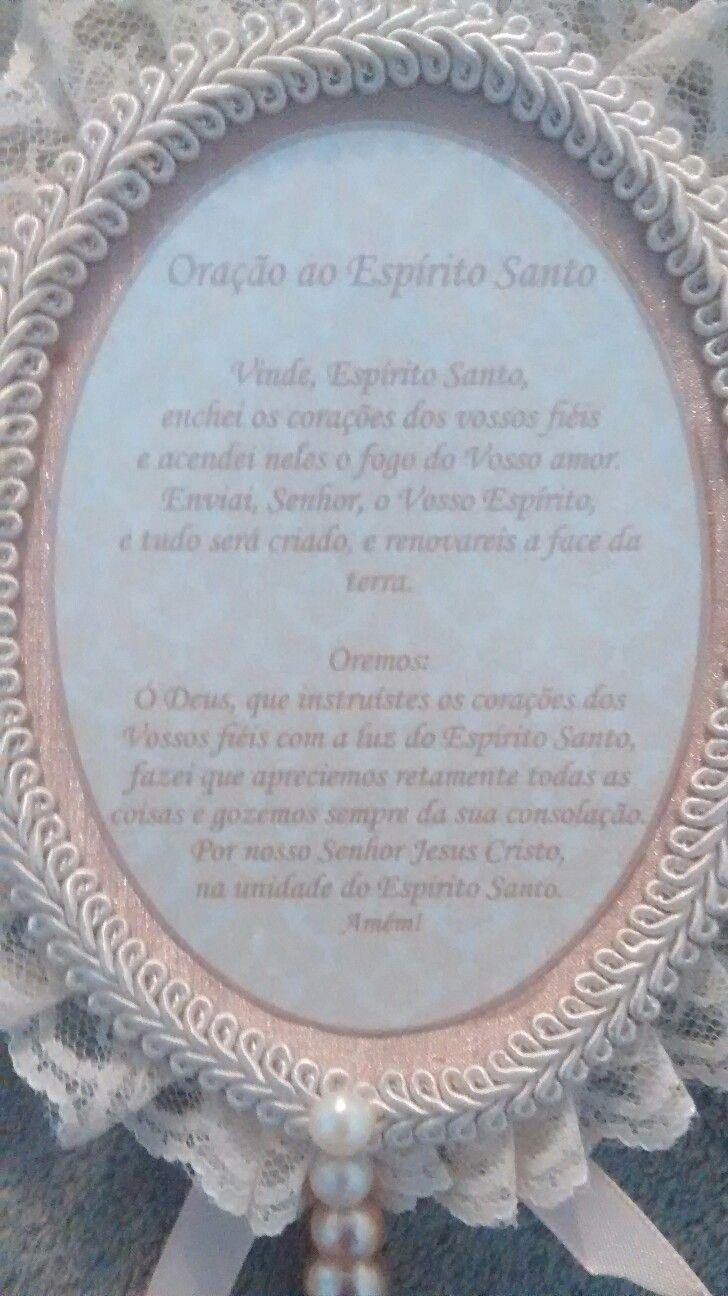 e225776cbea45 Pingente de Porta -verso Oração Divino Espírito Santo   Religiosos ...