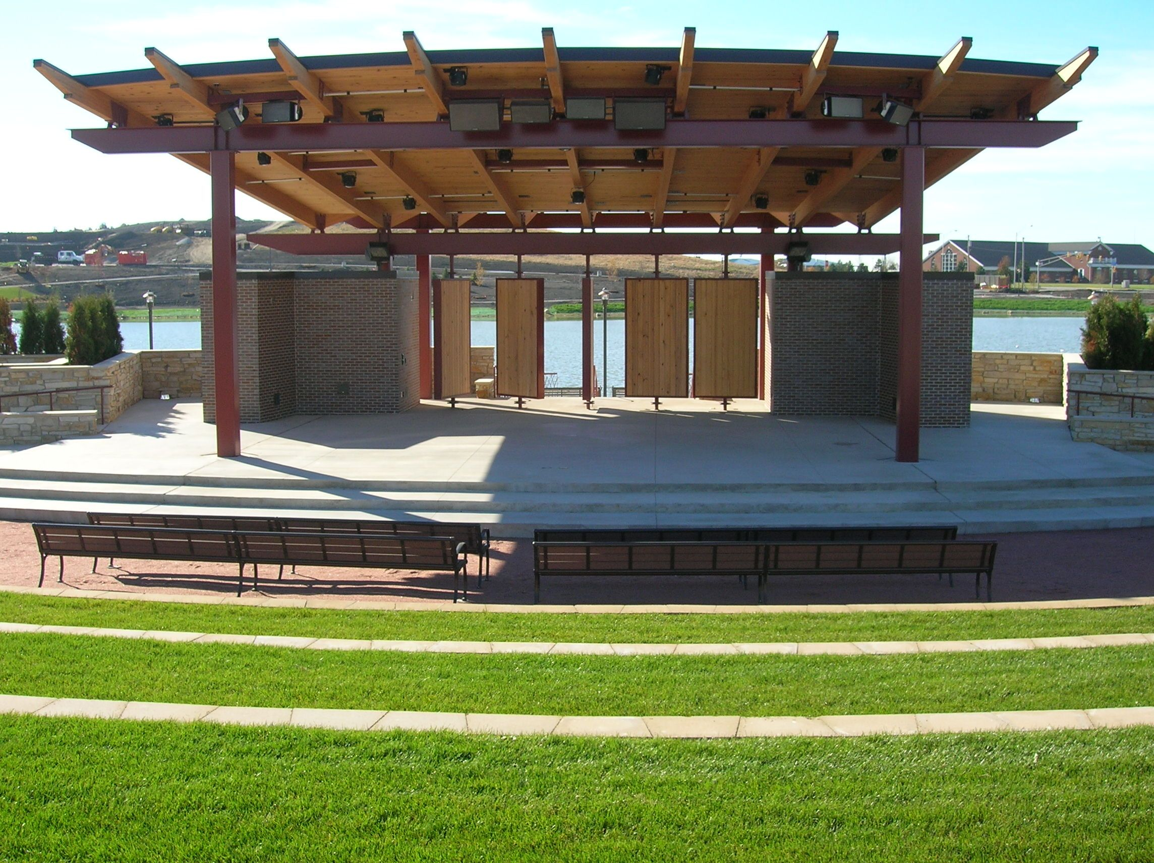 Empty outdoor concert stage - Outdoor Stages Outdoor Concert Stage Rental Entertainment Stage