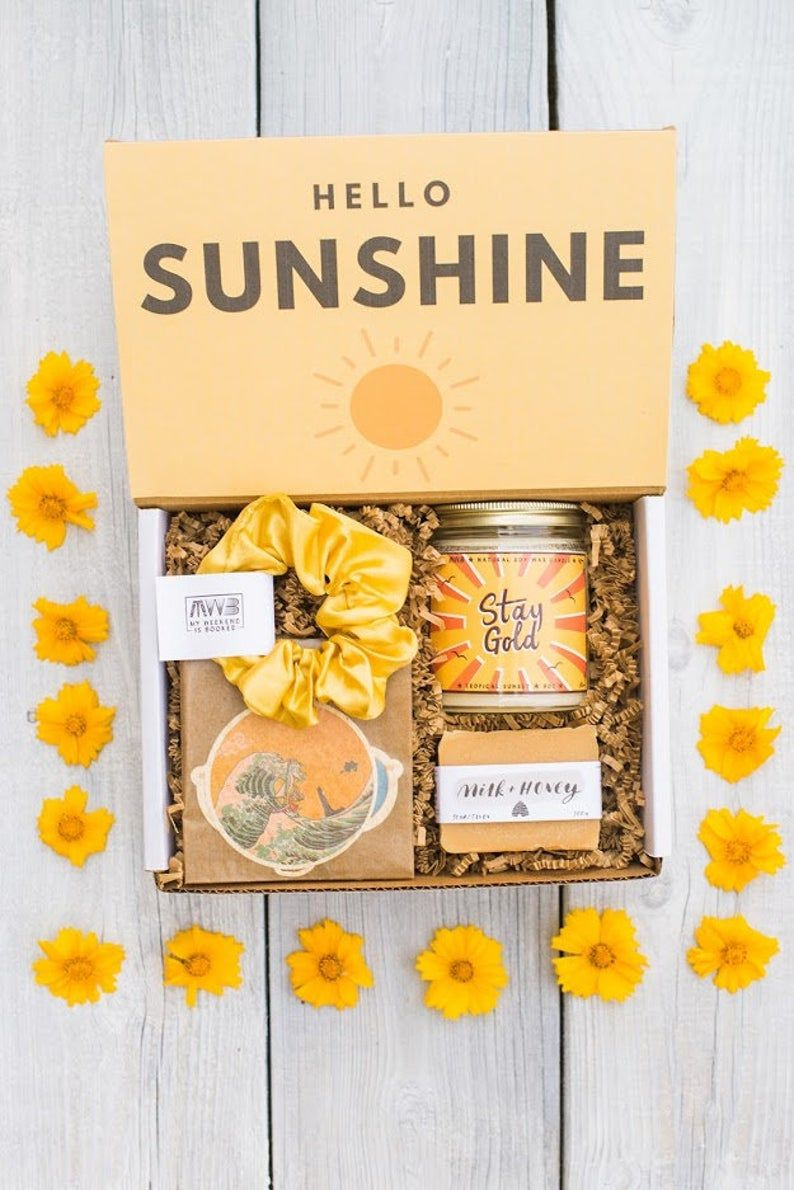 Bestselling box of sunshine care package for her just
