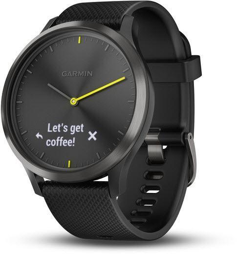 Garmin Watch Vivomove Hr Black With Black Silicone Band Alarm Yes Bezel Fixed Bracelet Strap Rubber Brand Garmi Smart Watch Best Smart Watches Garmin Watch