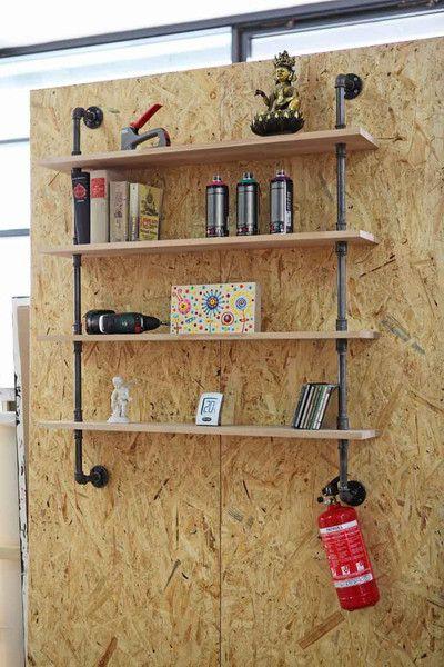 industriedesign bücherregal regal büro wohnzimmer, Wohnzimmer