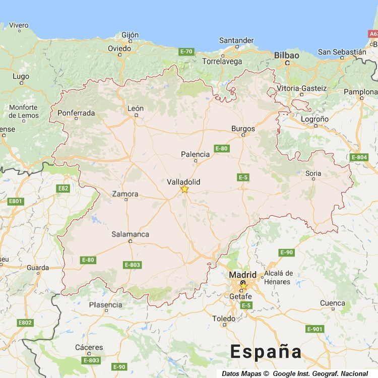 Mapa De Castilla Y Leon Mapas Fisico Y Politico De La Comunidad