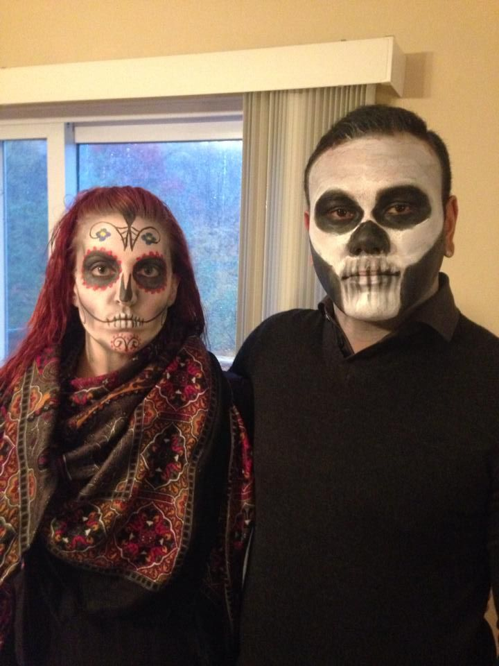 From a year ago. Our Sugar Skulls that scared all the kiddos. #halloween #sugarskull