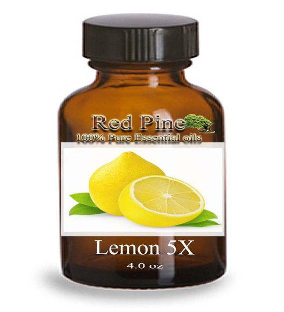 Lemon 5X Essential Oil - Citrus limonum - 100% Pure Therapeutic Grade