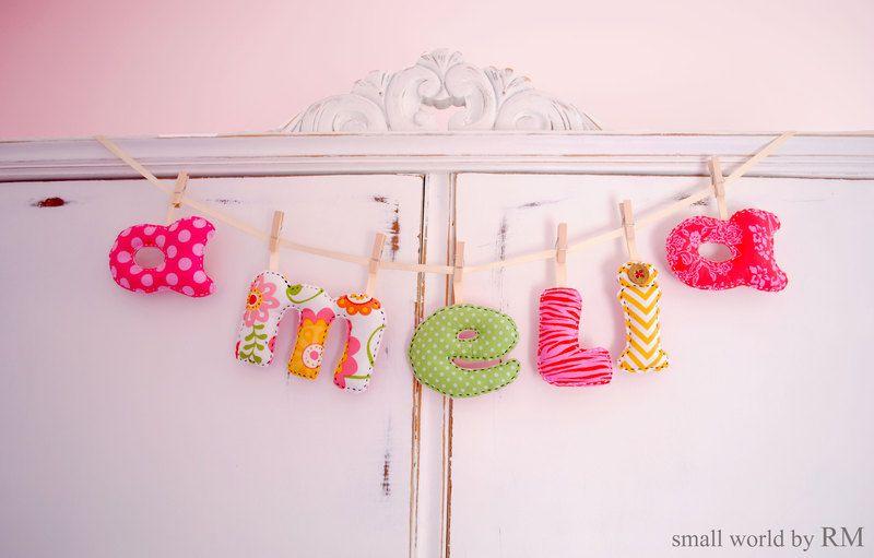 Letras decorativas de Mundo Raquel por DaWanda.com