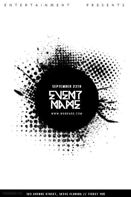 Black and White Event Flyer Template PosterMyWall Event poster