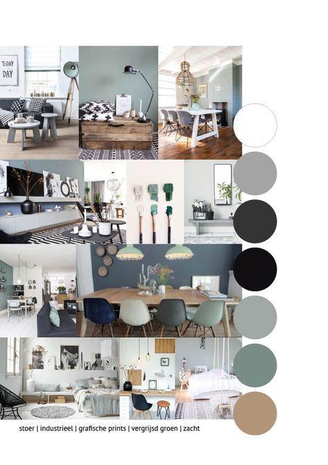 Photo of Moodboard 1 interieuradvies – Stoer | Industrieel | Grafische prints | Vergrijsd…