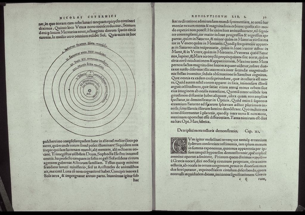 on the revolutions of the celestial spheres