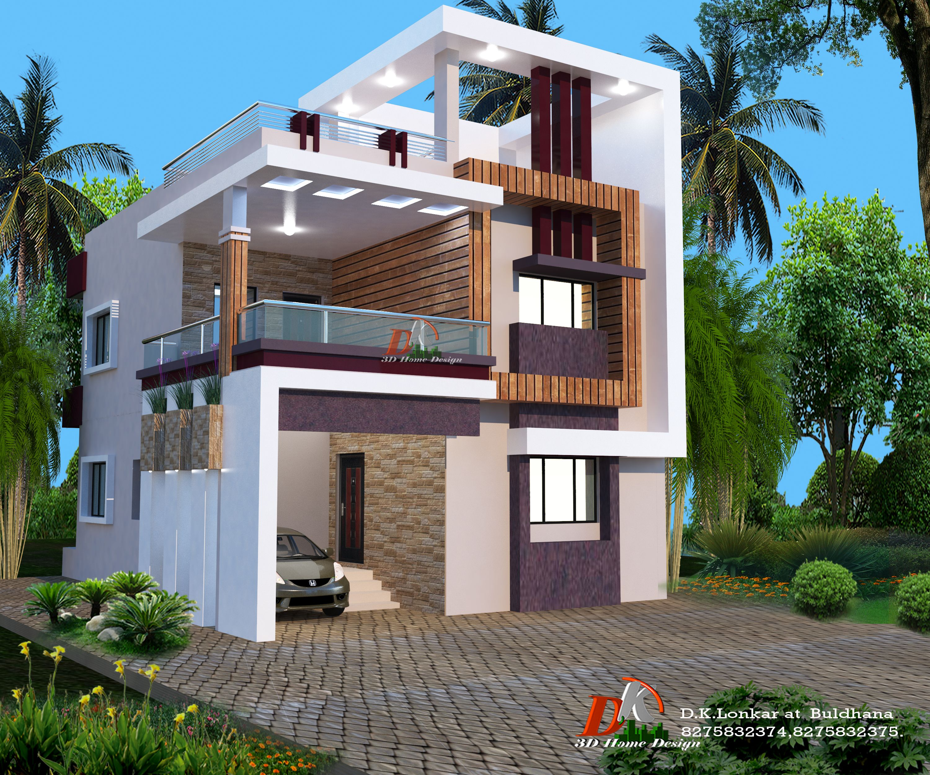 Duplex House Design, Bungalow House
