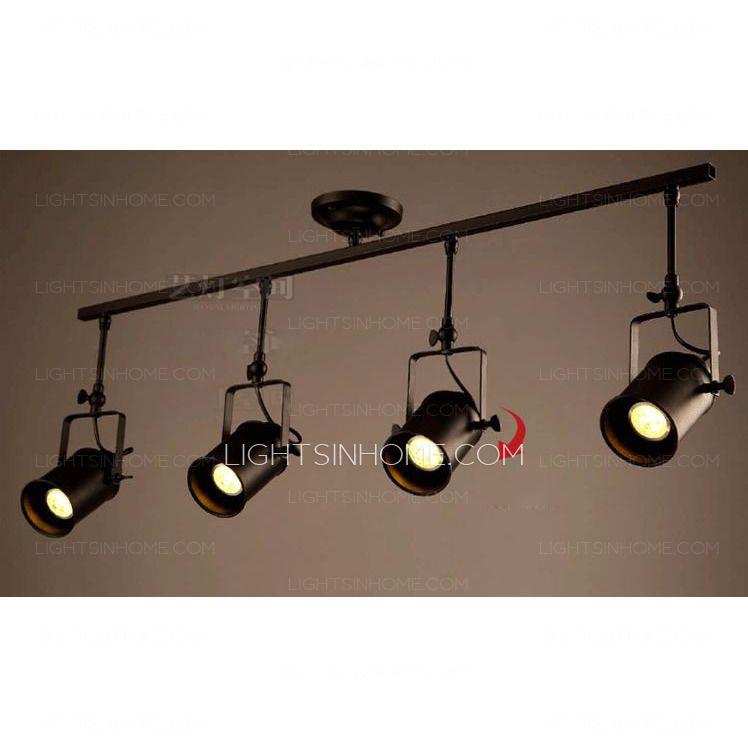 Large Semi Flush Ceiling Lights 4 Light
