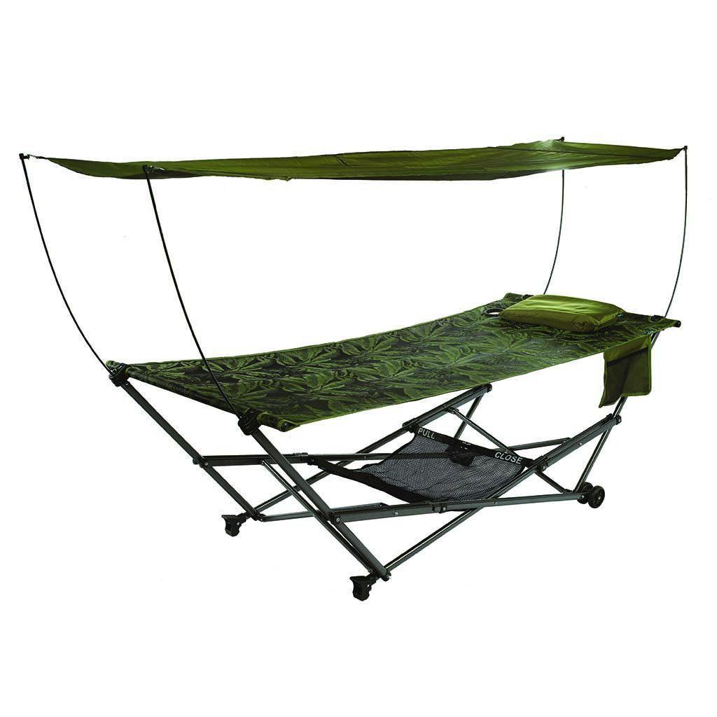 Stowez portable hammock stand with canopy fern bliss hammocks