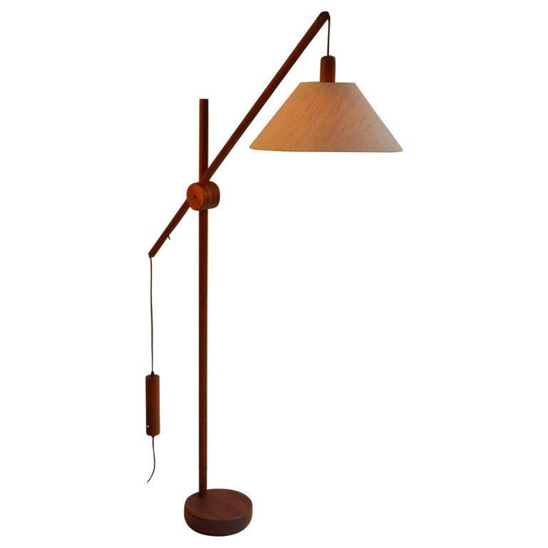 Scandinavian Modern Danish Teak Counter Balance Floor Lamp Floor Lamp Mid Century Modern Floor Lamps Modern Floor Lamps