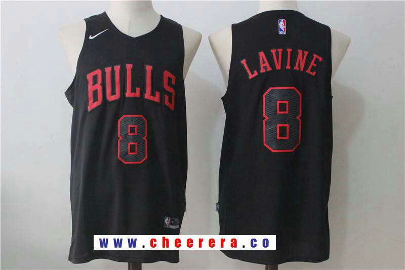 Men s Chicago Bulls  8 Zach LAVINE 2017 Black Bulls Fashion Stitched NBA  Nike Basketball Jersey bb66ec48a