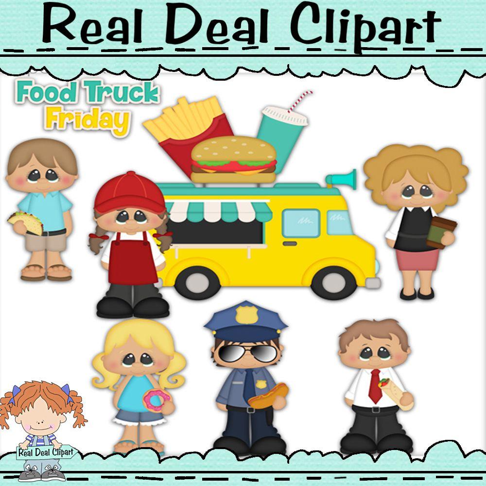 Food Truck Friday Clip Art Realdealclipart Cute Clip Art Lunch