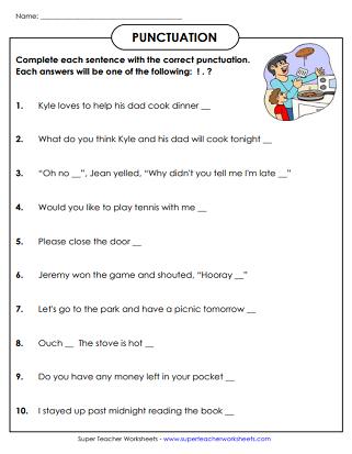 punctuation worksheets language punctuation worksheets punctuation worksheets. Black Bedroom Furniture Sets. Home Design Ideas