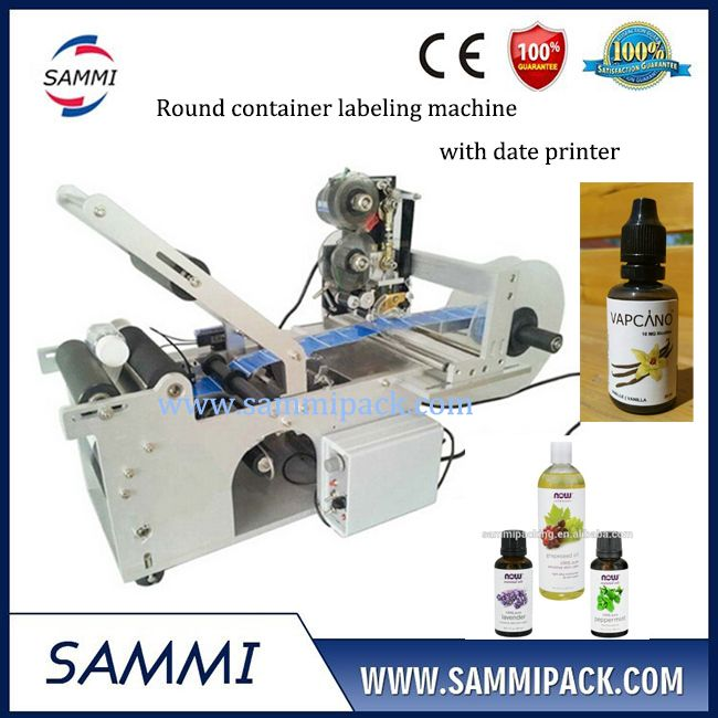 Semi Automatic Food Bottle Labeling Machine With Date Code