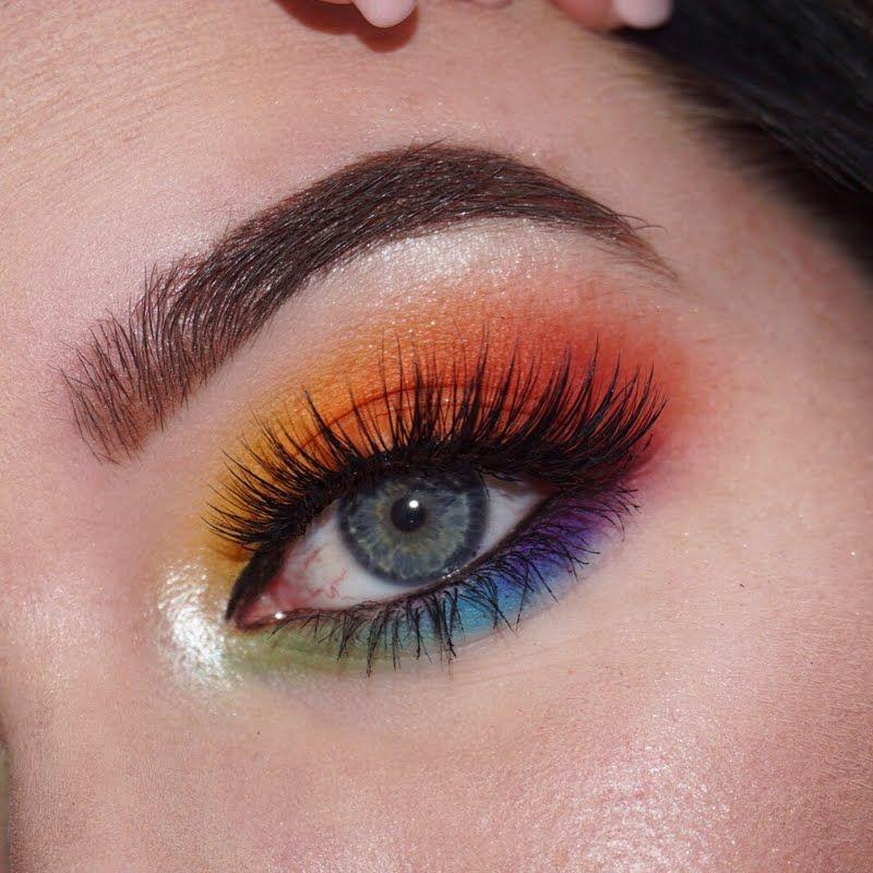 Pride Makeup With Images Pride Makeup Rainbow Eye Makeup