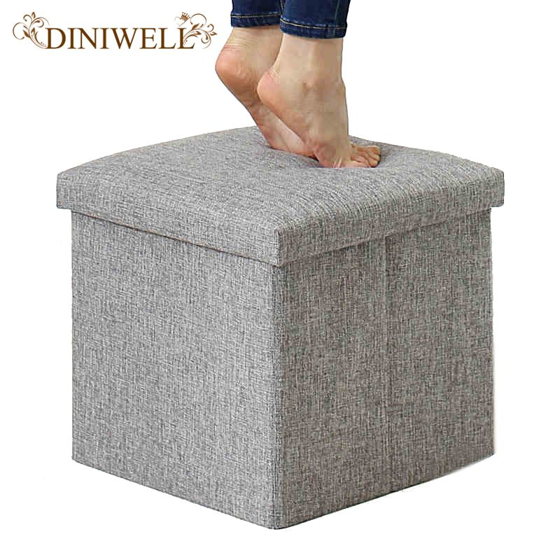 2e5836be79 Find More Storage Boxes   Bins Information about DINIWELL Square Linen  Folding Home Storage Box Clothing