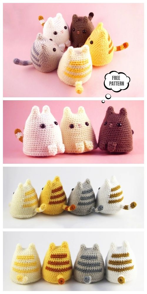 Crochet Dumpling Kitty Amigurumi Free Patterns - D