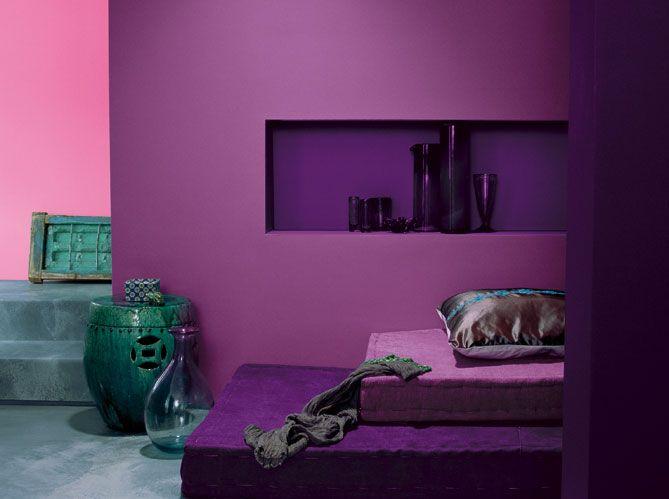 Les Murs Font Le Plein De Couleurs Salons Violet Couleurs De