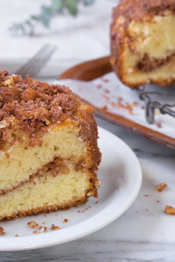 Our Favorite Sour Cream Coffeecake Recipe Sour Cream Cake Coffee Cake Recipes Breakfast Cake