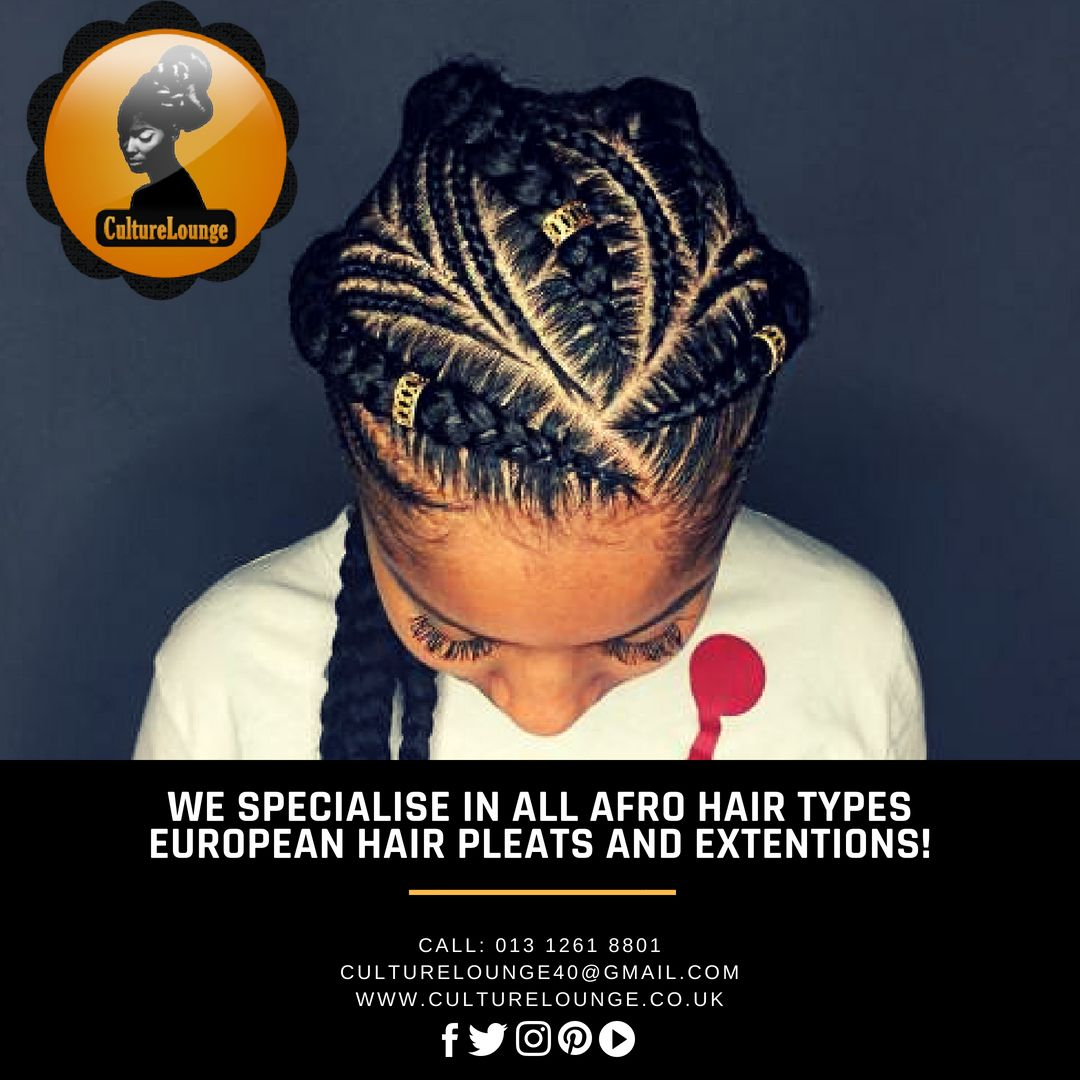 We specialise in all Afro hair types, European hair pleats