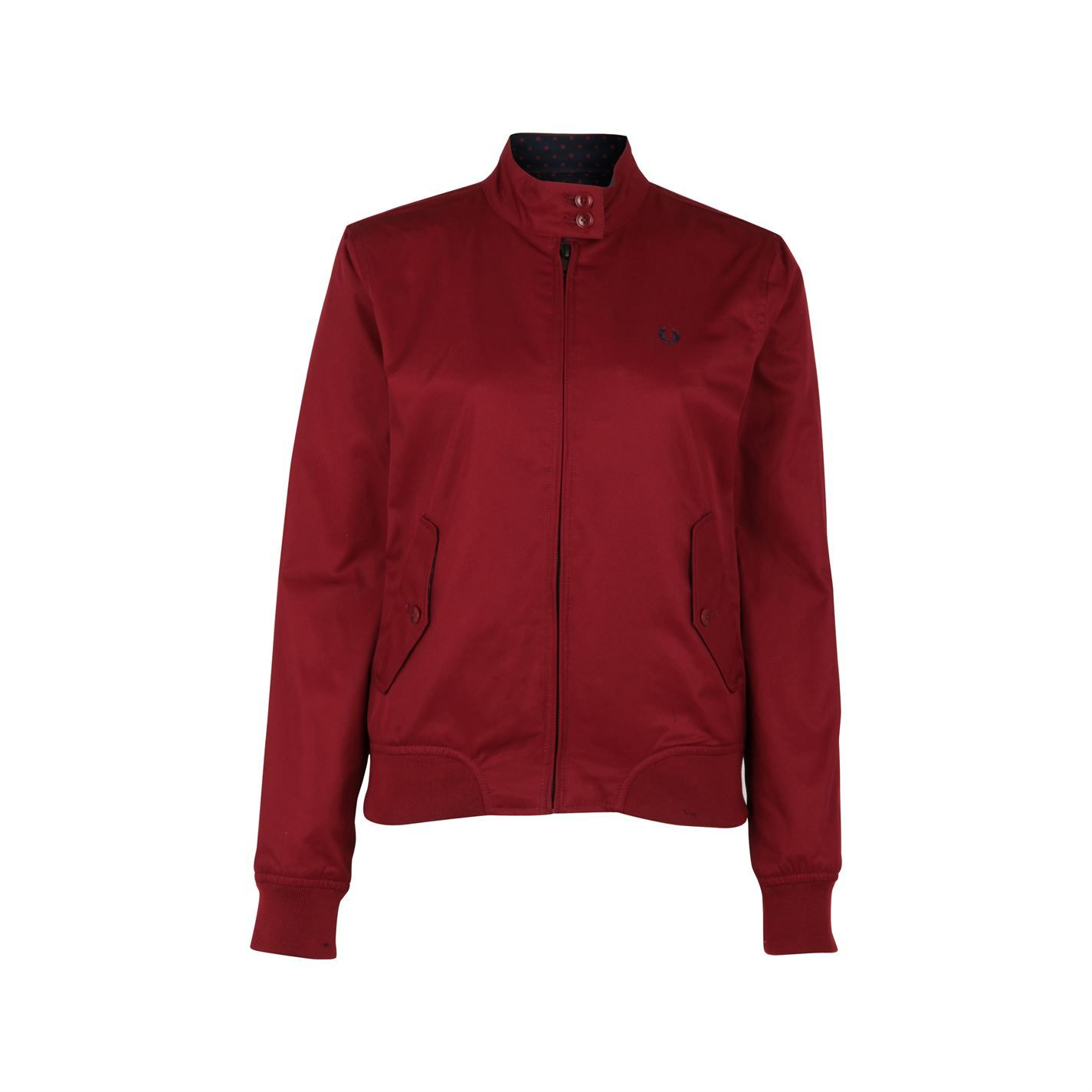 Fred perry red parka womens