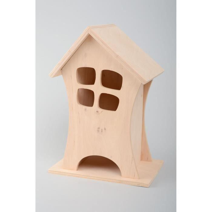 objet dcoratif maquette maison en bois dcorer originale - Objets Bois A Decorer