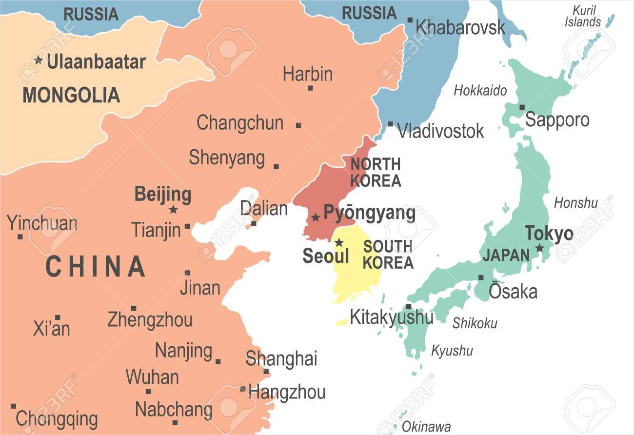 karte japan china North Korea South Korea Japan China Russia Mongolia Map   Detailed