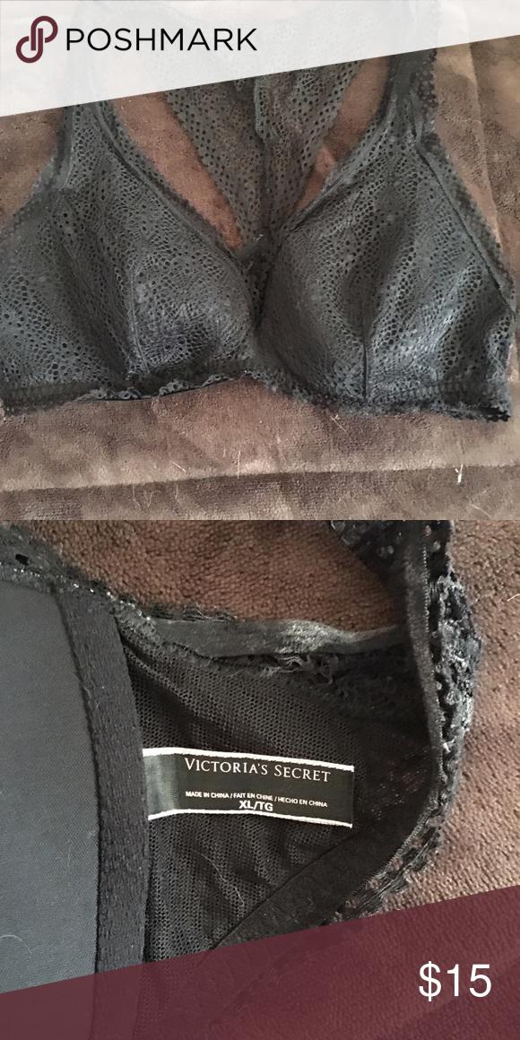 Victoria's Secret bralette NWOT Black Victoria's Secret bralette never worn Victoria's Secret Intimates & Sleepwear Bras