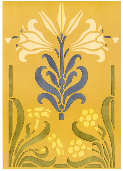 Art Nouveau Floral Patterns and Stencil Designs in Full Color ...