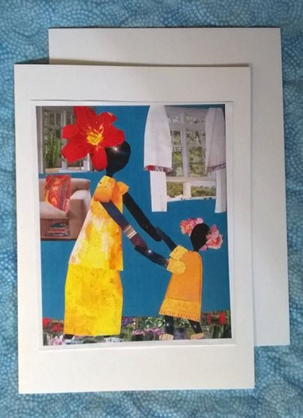 Greeting Card. Dancin' in the Living Room. African by mirlande