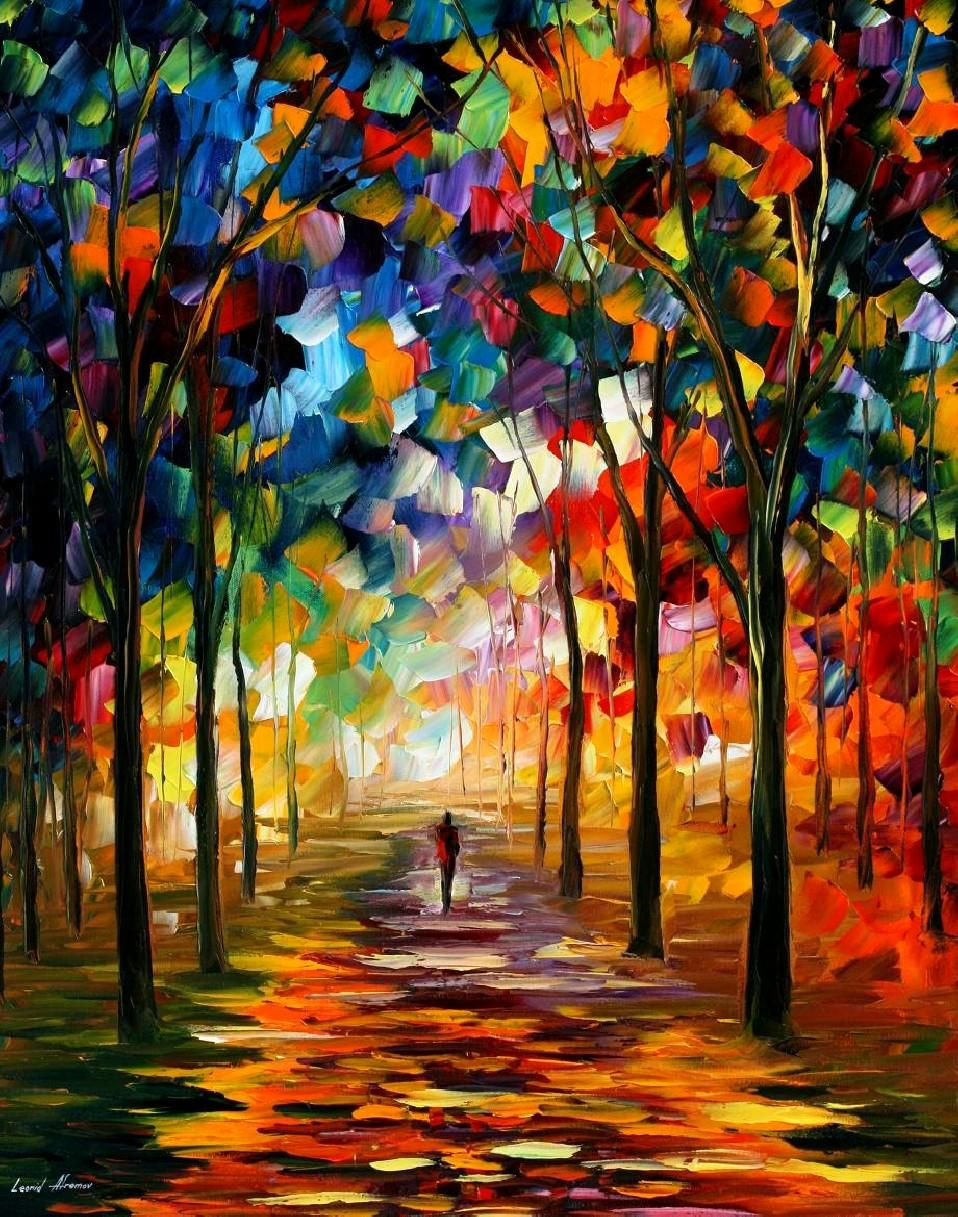 HARMONY PALETTE KNIFE Oil Painting Canvas By Leonid Afremov