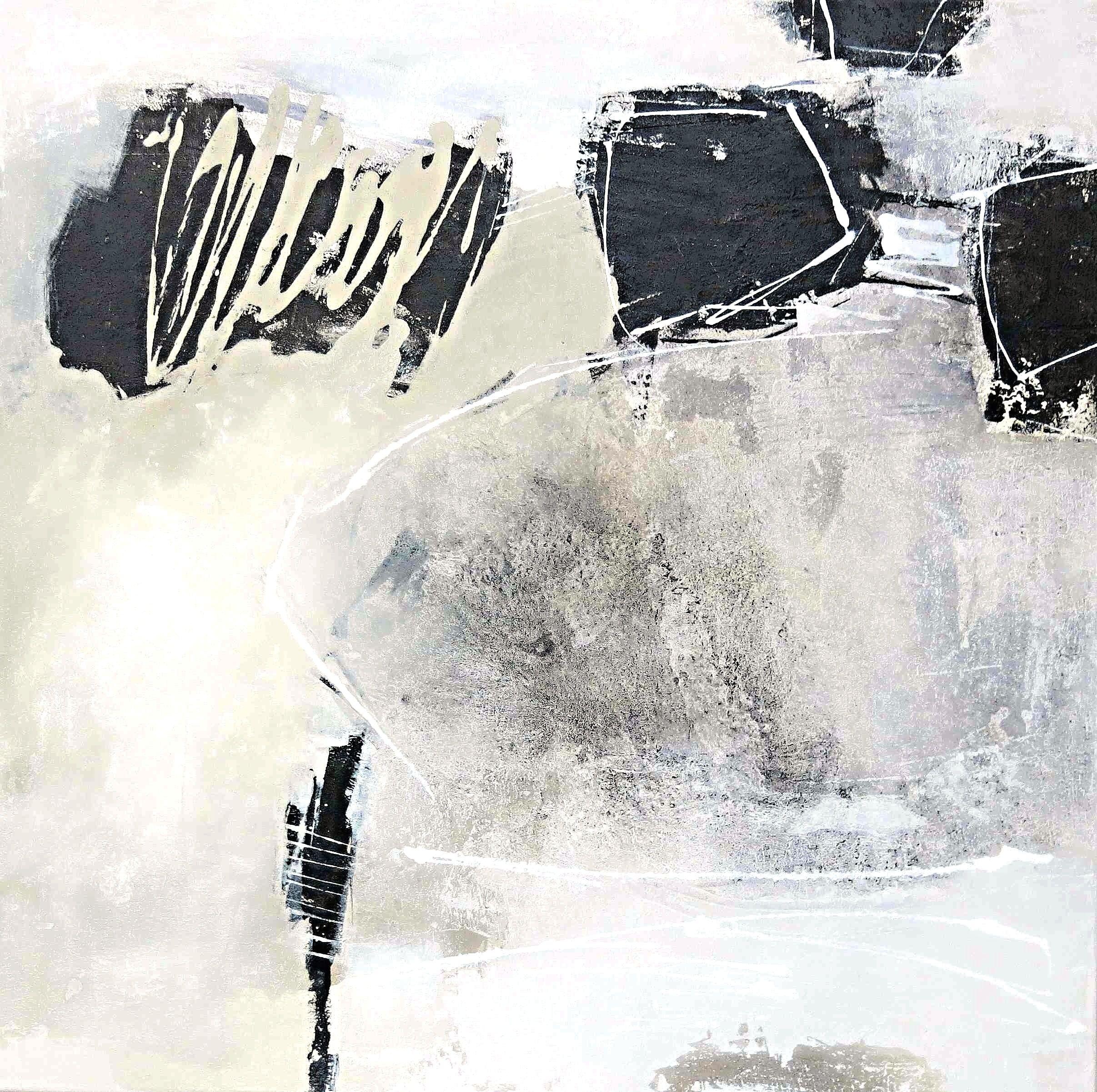 Renate Migas o.T. (Serie Unbunt) 0,80 m x 0,80 m Mischtechnik auf Leinwand