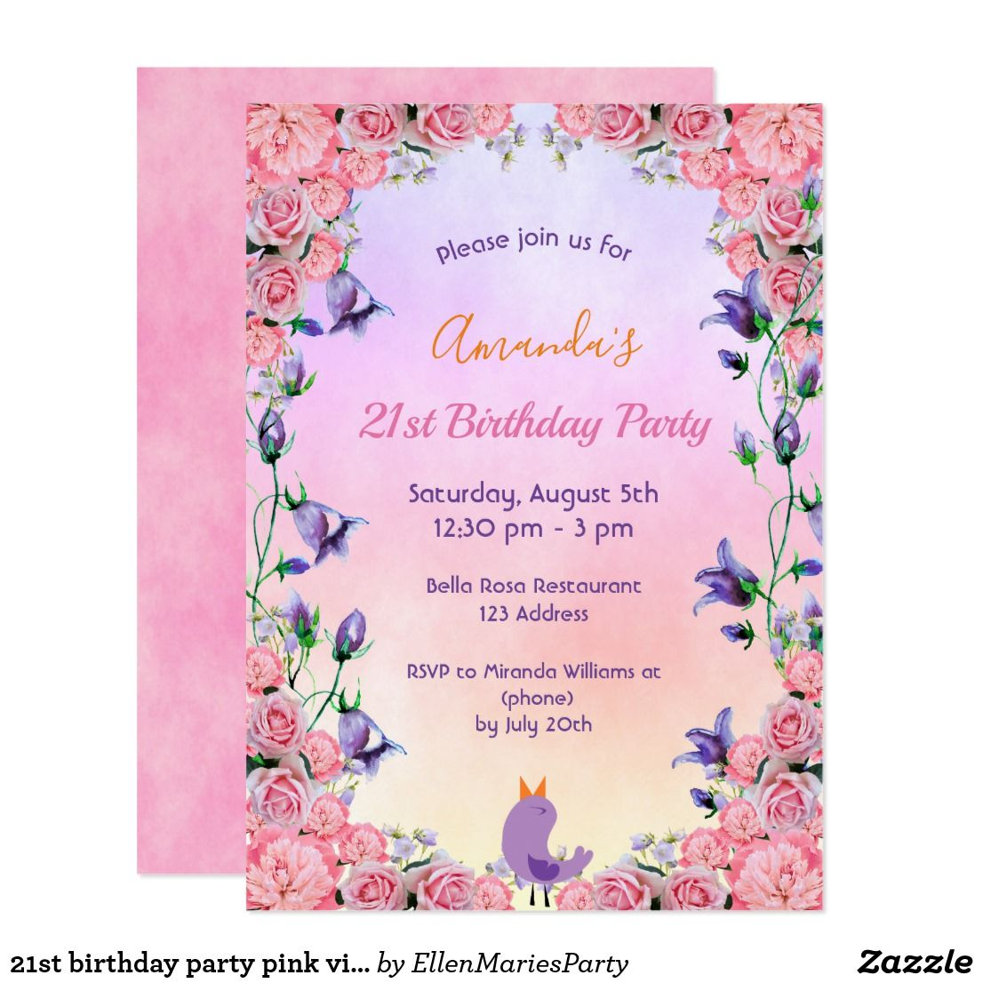 Invitations Bridal Shower or 21st Birthday Party Supplies and Decorations