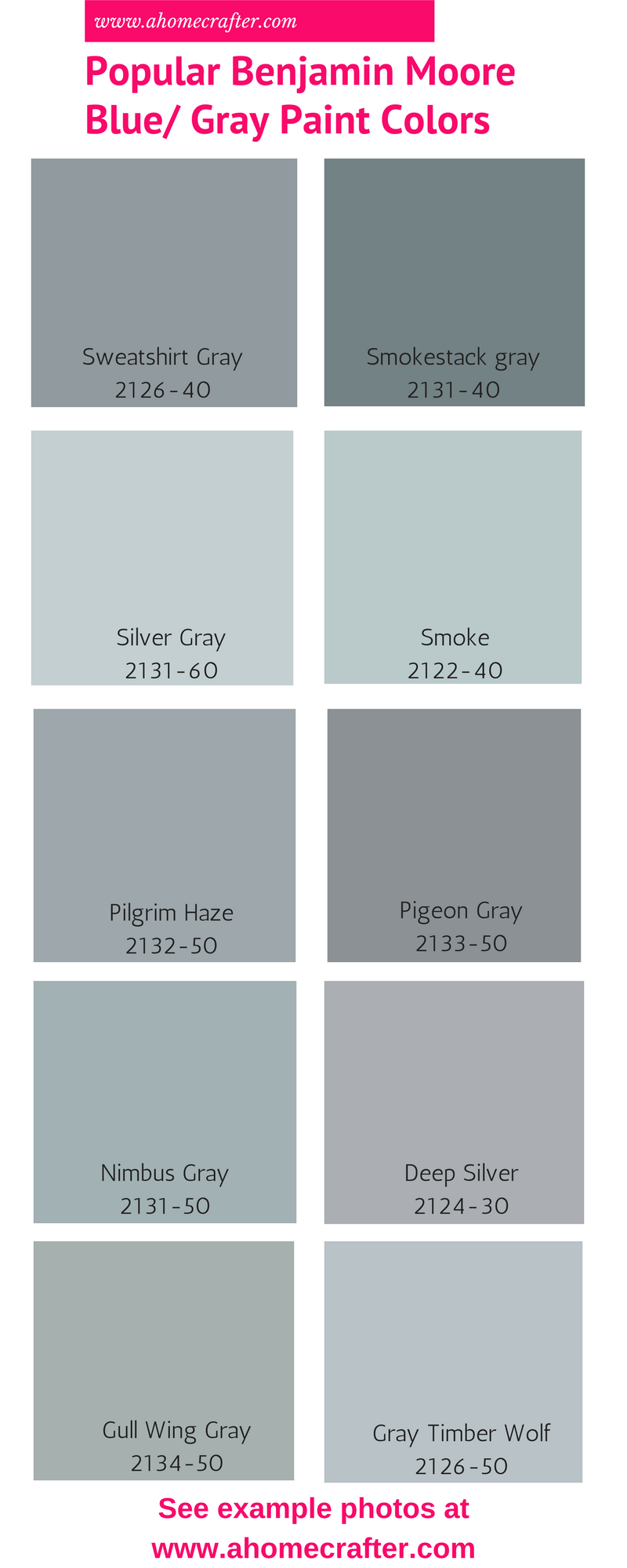 Popular Benjamin Moore Blue Gray Paint Colors With Images Blue