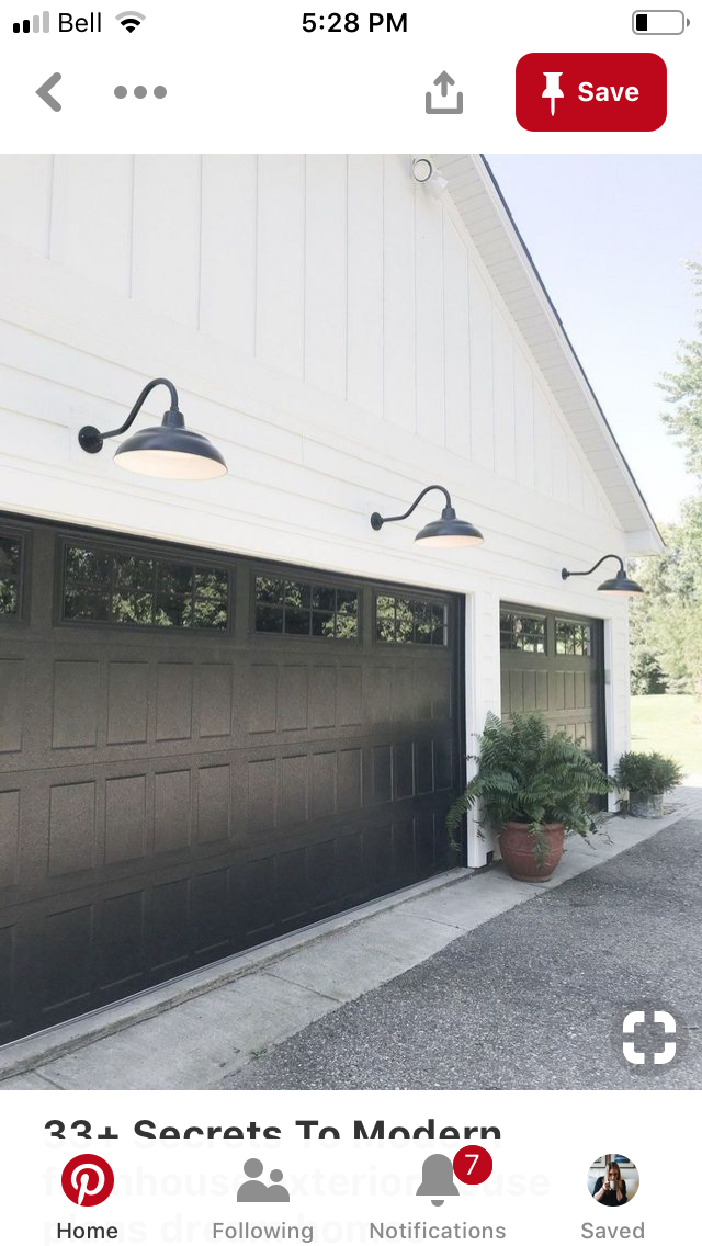 White Board And Batten With Black Doors White Exterior Houses Garage Door Design Exterior House Colors