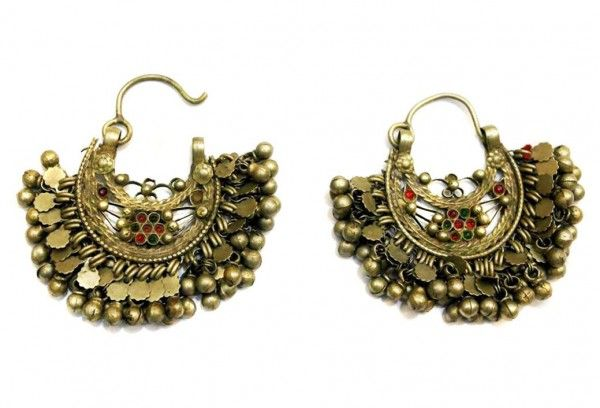 Afghan Jewelry Earring with Different Color Stones In nice design
