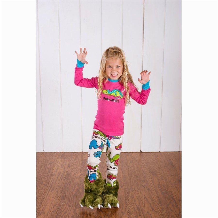 Girls Dino-Snore Long Sleeve Pyjamas Set, Child   Piger