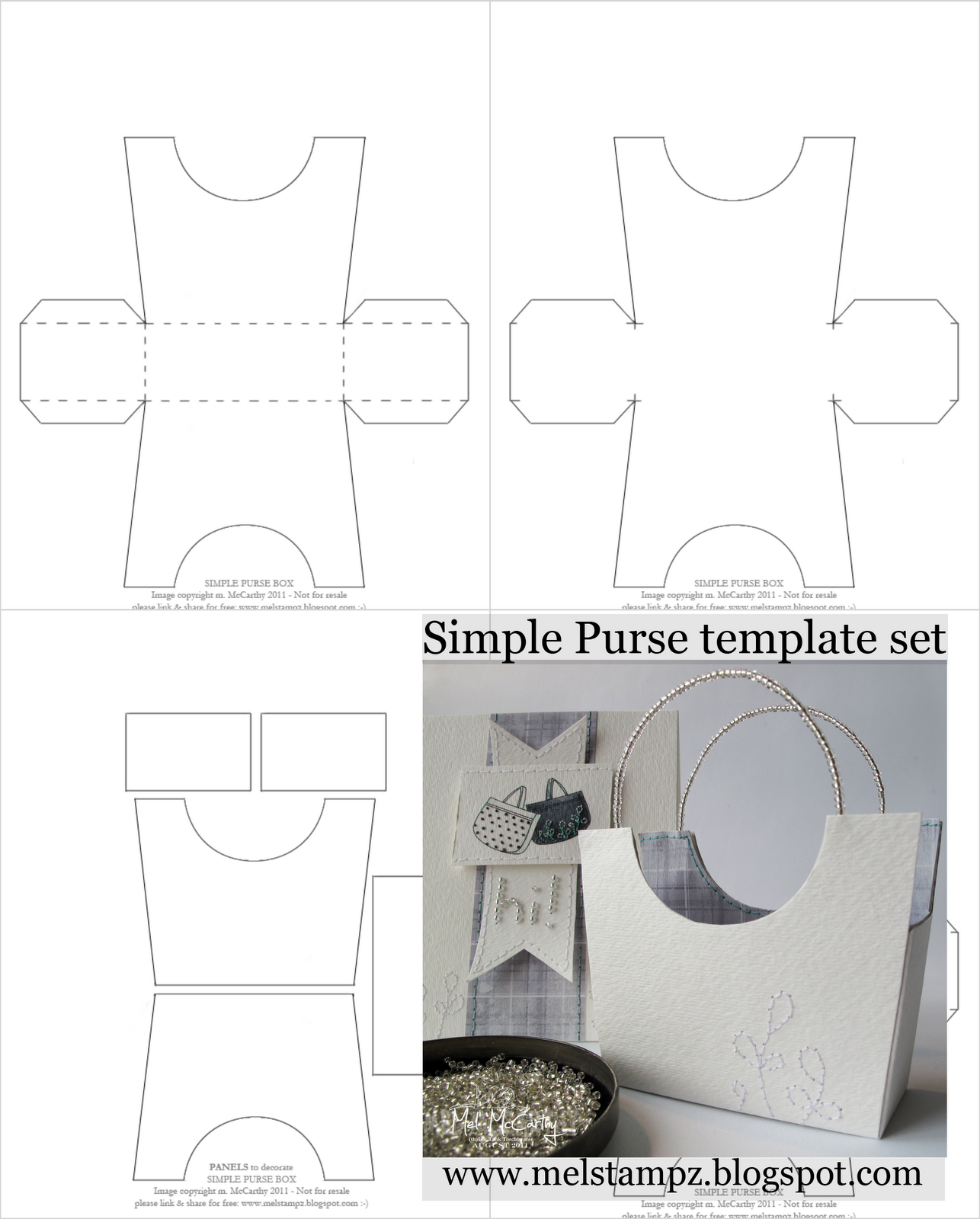 Simple purse templates--This site is loaded with templates for all ...