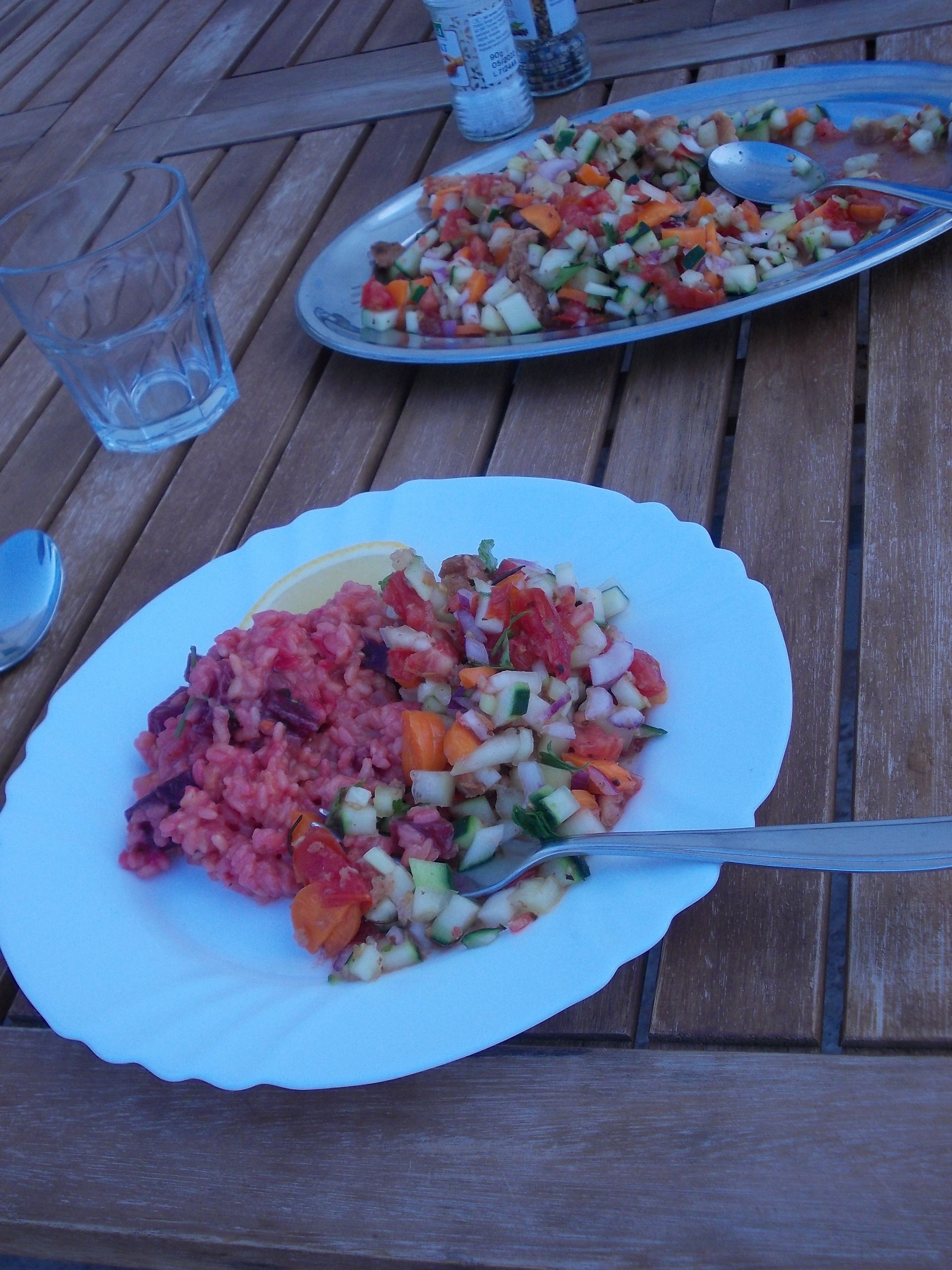 Tolles vegetarischveganes Essen Kroatien urlaub, Yoga