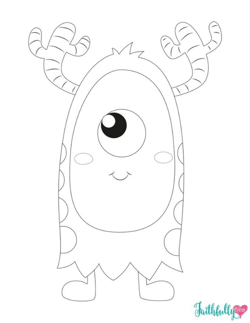 Monster Coloring Pages For Kids Monster Coloring Pages Ideas For Kids In 2020 Monster Coloring Pages Monster Quilt Coloring Pages For Kids