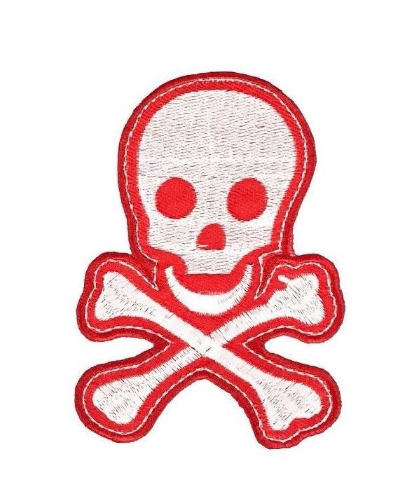 Pirate Skull and Cross bone Iron on Sew on Embroidered Patch